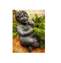 seasidecollectibles Vintage Child with Dog Vintage GARDEN SCULPTURE