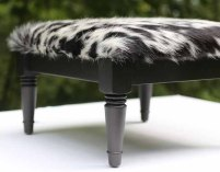 TheCowPelt ~ Vintage Cowhide Footstool
