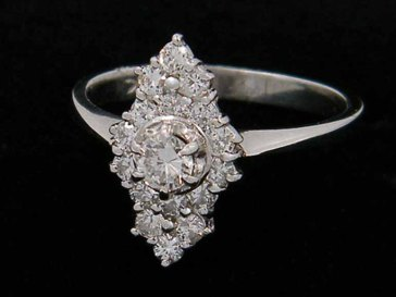 AntiqueLockets ~ Platinum Diamond Ring