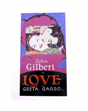 GRETA GARBO in LOVE 1920s Movie Poster Print by Batiste Madalena