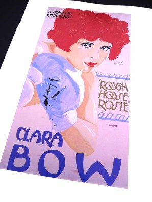 Clara Bow in ROUGH HOUSE ROSIE Movie Poster by Batiste Madalena