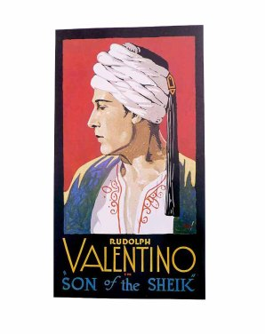VALENTINO in SON of the SHEIK Silent Movie Era Poster Art by Batiste Madalena
