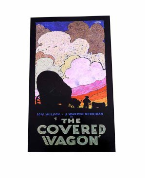 1923 The COVERED WAGON 1923 Art Deco Movie Poster Print by Batiste Madalena