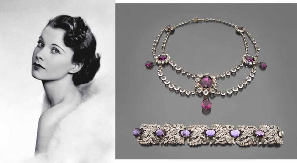 Necklace and bracelet Worn by Vivien Leigh in Gone With the Wind  (1939) Joseff of Hollywood metal, glass