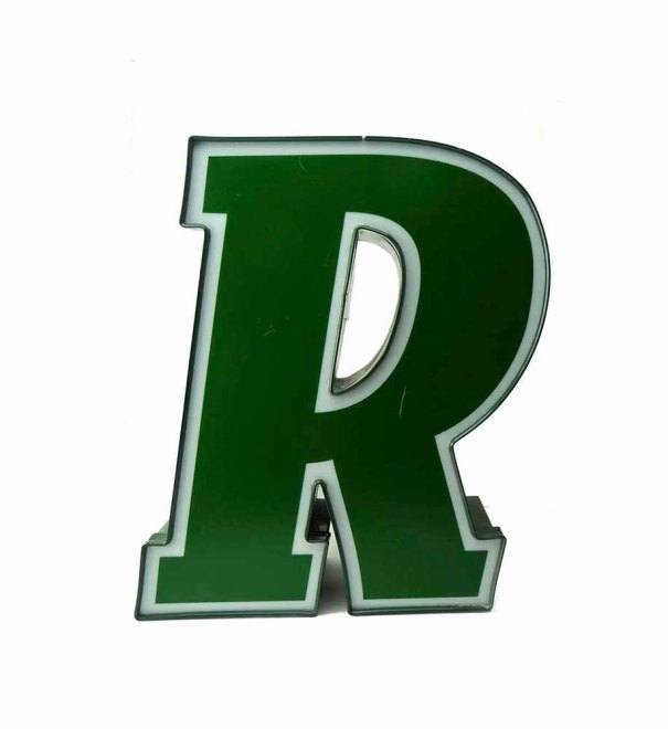 "seasidecollectibles ~ Vintage Lighted Letter ""R""  19.5 in x 15.5 in Mod Office Home Decor"