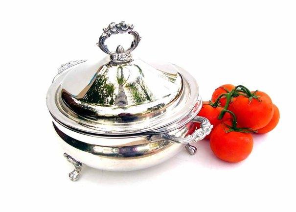 OceansideCastle ~ Vintage 1960s Silver Serving Dish