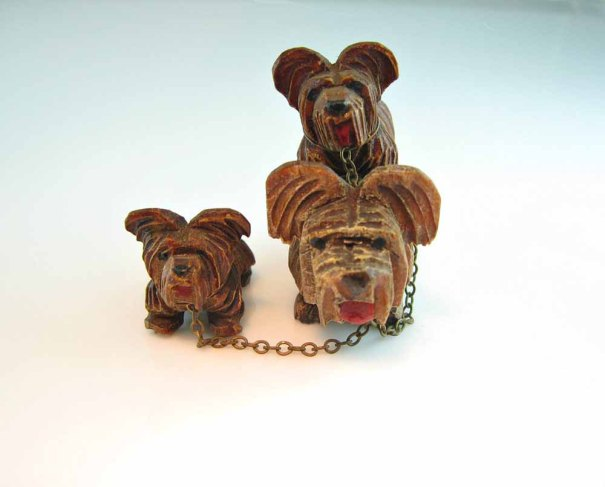 bohemiantrading ~ Miniature  Yorkshire Terriers Set of 3