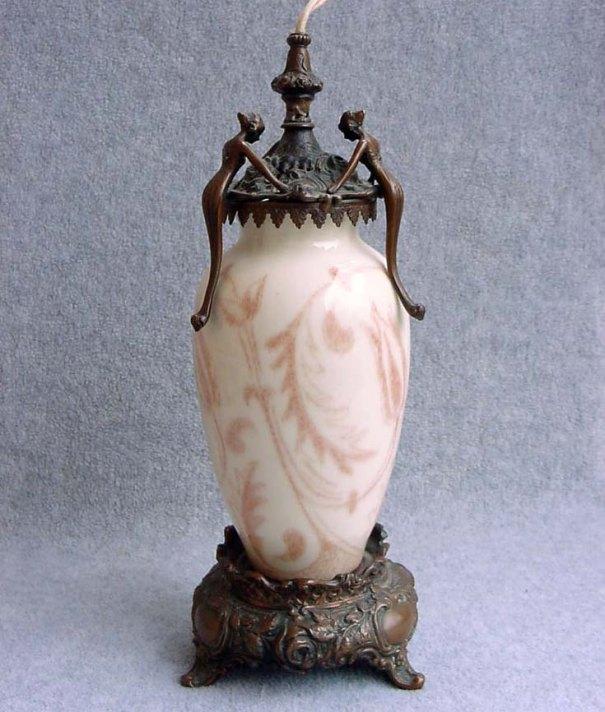 Rare Rookwood Pottery Figural Perfume Lamp