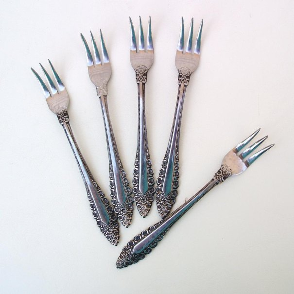 Vintage Cocktail Forks Flatware
