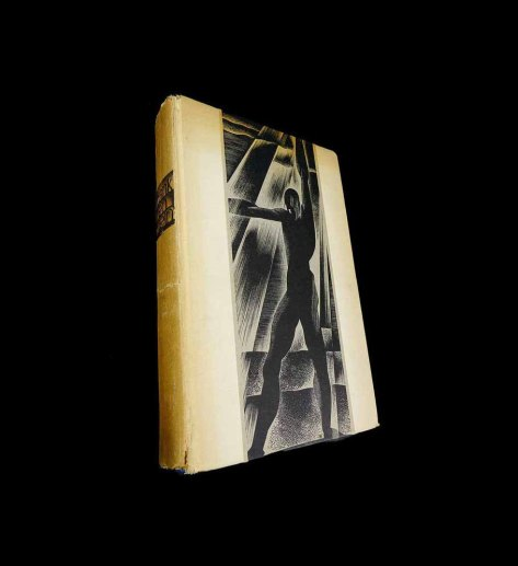 Frankenstein 1934 First Edition by Mary Wollstonecraft Shelley illustrated by Lynd Ward Wood Engravings Horror