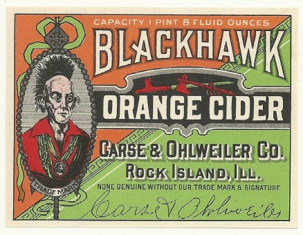 1920's Carse & Ohlweiler Co. Orange Cider Soda Bottle Label at VintagePaperTrail