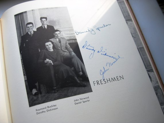 Class of 1937 Yearbook Kanakadea in Brown Suede Alfred University, New York at KSTigerlily on etsy