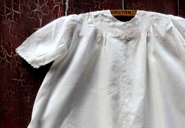 Antique Victorian Hand Embroidered Christening Gown | Baptismal Gown at used2bnewVintage
