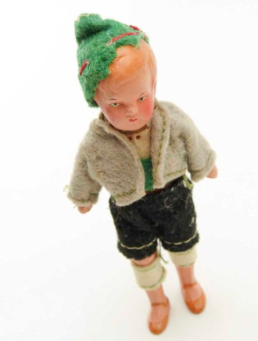 Germany Bisque Young Boy Doll 1920s at seasidecollectibles